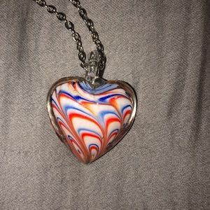 Brand new glass pendant necklace